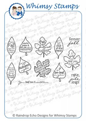 *** Whimsy Stamps - Autumn Leaves - Sentiments Collection