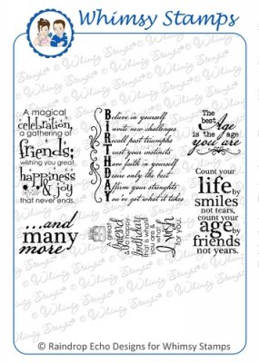 *** Whimsy Stamps - Birthday Greetings 2 - Sentiments Collection