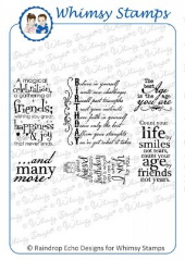 ###Whimsy Stamps - Birthday Greetings 2 - Sentiments Collection