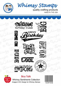 ###Whimsy Stamps - Boy Talk - SC Design Collection