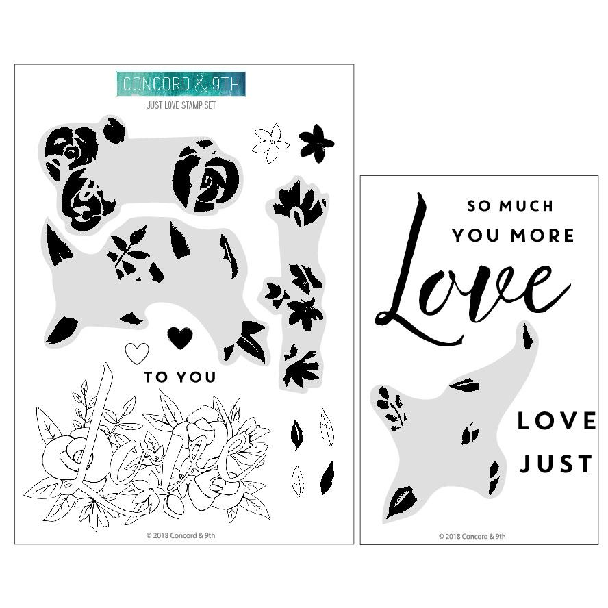 *NEW* - Concord & 9th - Just Love stamp set
