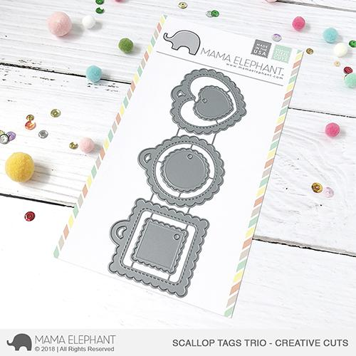 Mama Elephant - Scallop Tags Trio - Creative Cuts