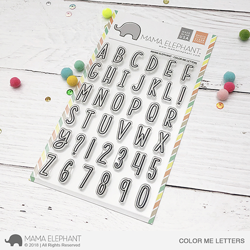 *PRE-ORDER**NEW* - Mama Elephant - COLOR ME LETTERS