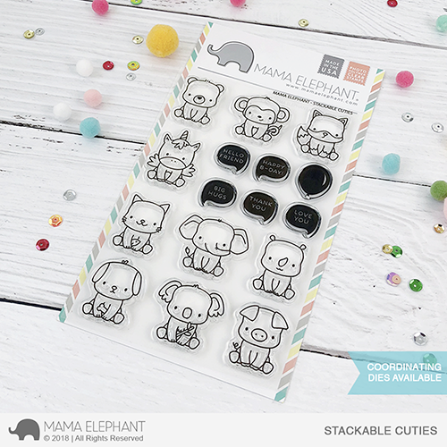 *PRE-ORDER**NEW* - Mama Elephant - STACKABLE CUTIES