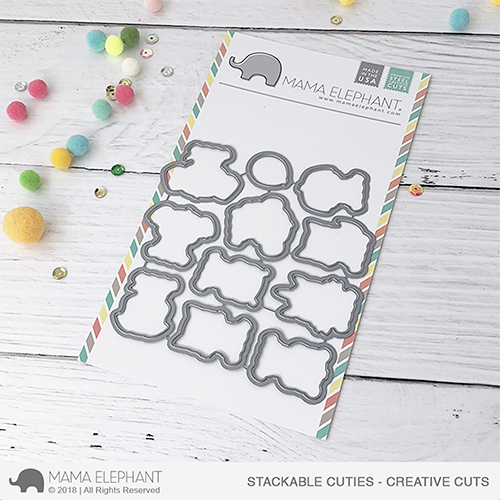 *PRE-ORDER**NEW* - Mama Elephant - Stackable Cuties - Creative Cuts