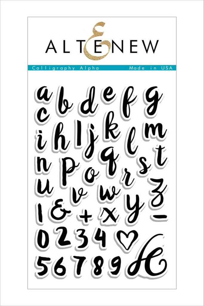 AlteNew - Calligraphy Alpha Stamp Set