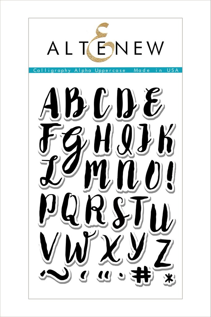 AlteNew - Calligraphy Alpha Uppercase Stamp Set