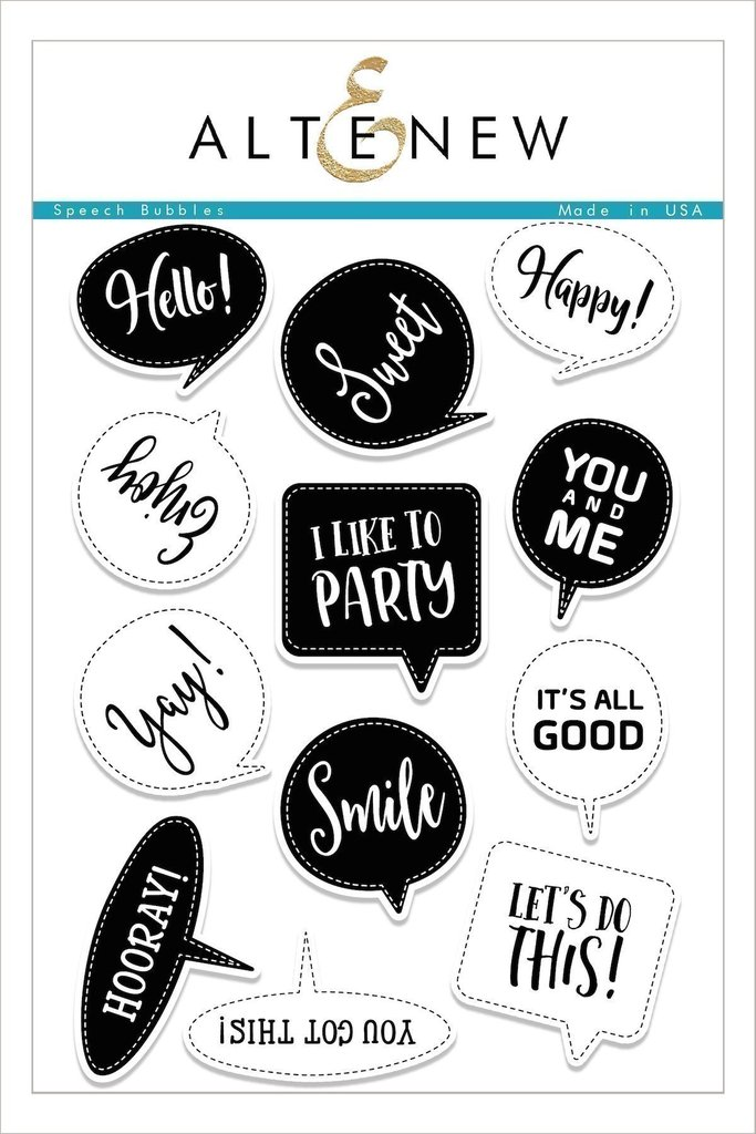 Altenew - Speech Bubbles Stamp Set