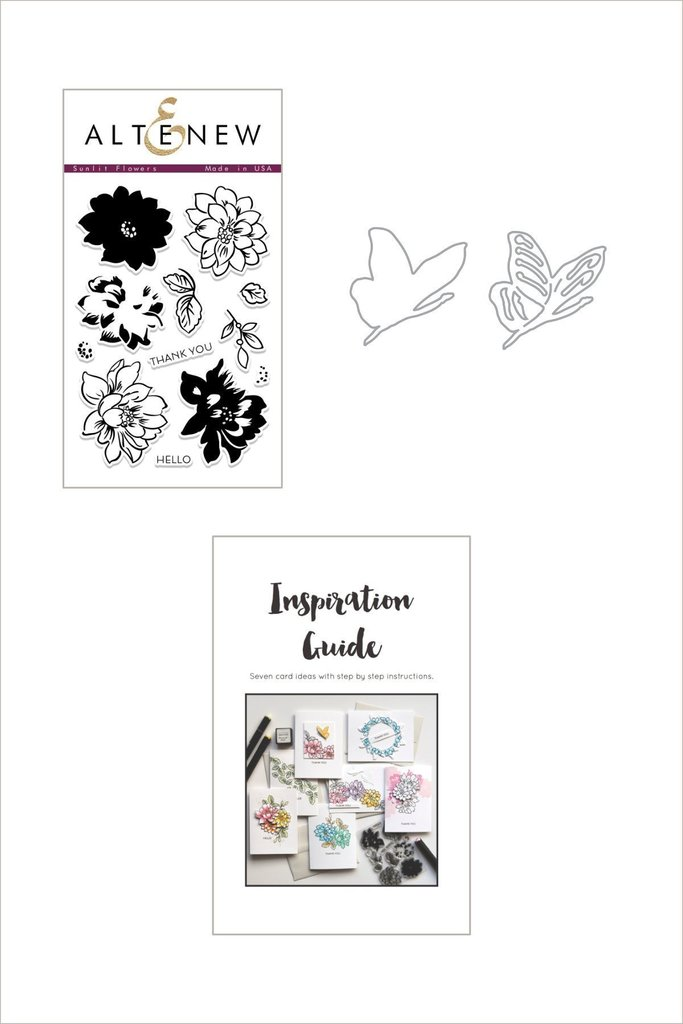 *NEW* - Altenew - Sunlit Flowers Stamp and Die Bundle