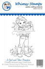 Whimsy Stamps - A Girl and Her Pumpkin - Crissy Armstrong Collection