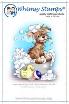 Whimsy Stamps - Bath Dog - Crissy Armstrong Collection