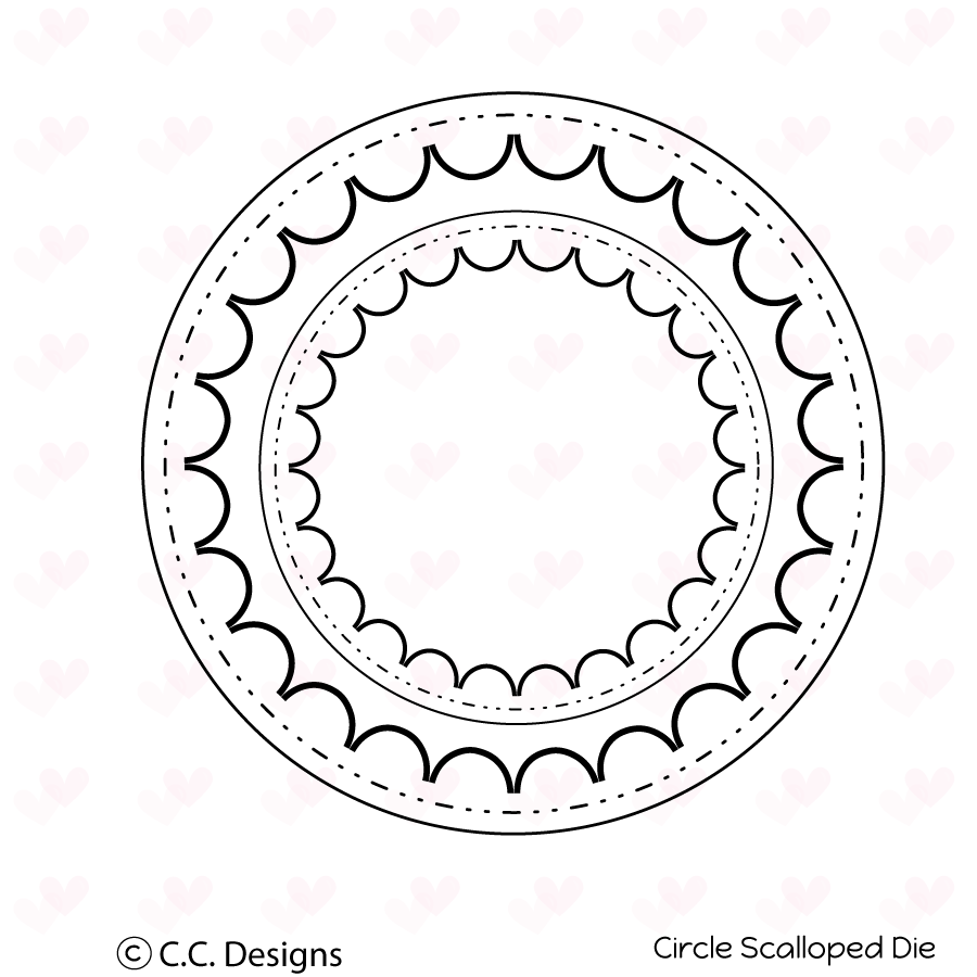 *NEW* - CC Designs - Circle Scalloped Metal Die