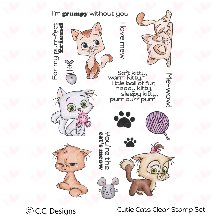 *NEW* - CC Designs - Cutie Cats Clear Stamp Set