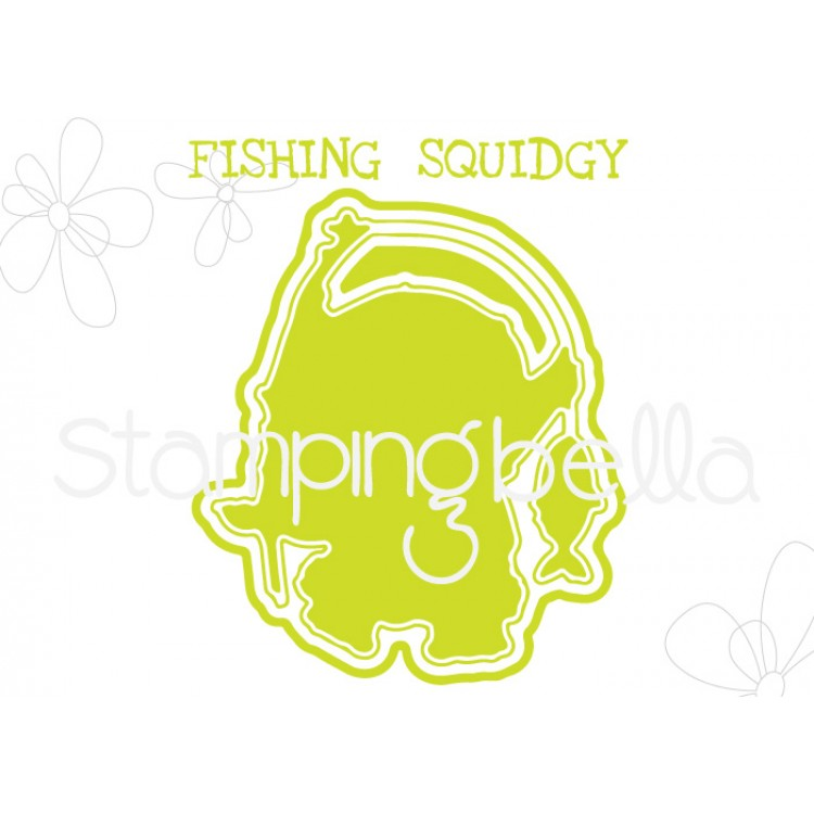 "*NEW* - Stamping Bella - Fishing Squidgy ""CUT IT OUT"" DIE"
