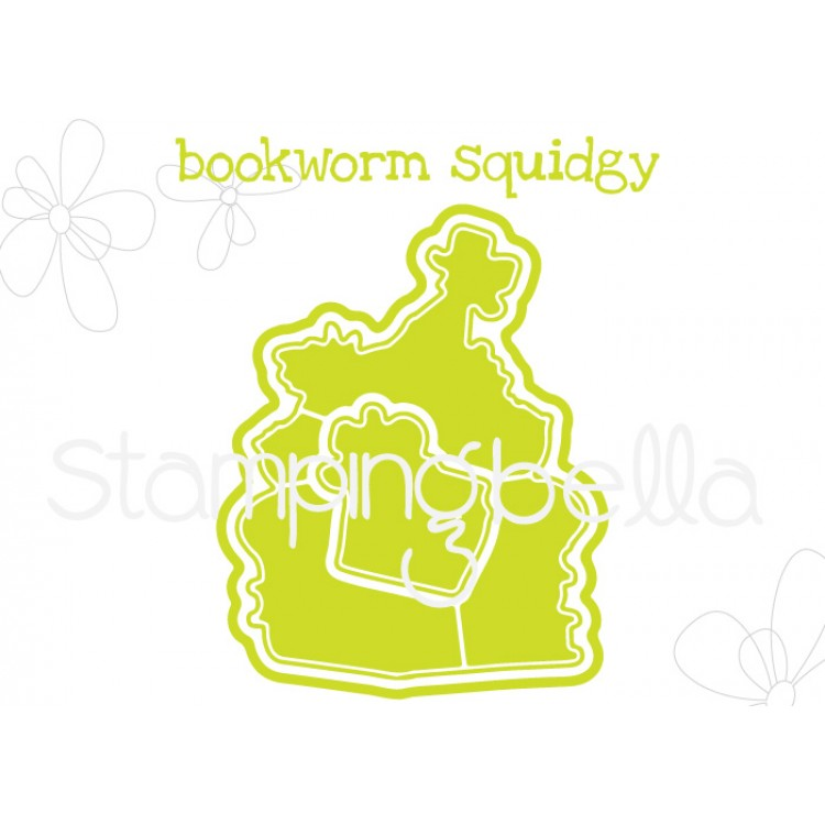 "*NEW* - Stamping Bella - Bookworm Squidgy ""CUT IT OUT"" DIE"