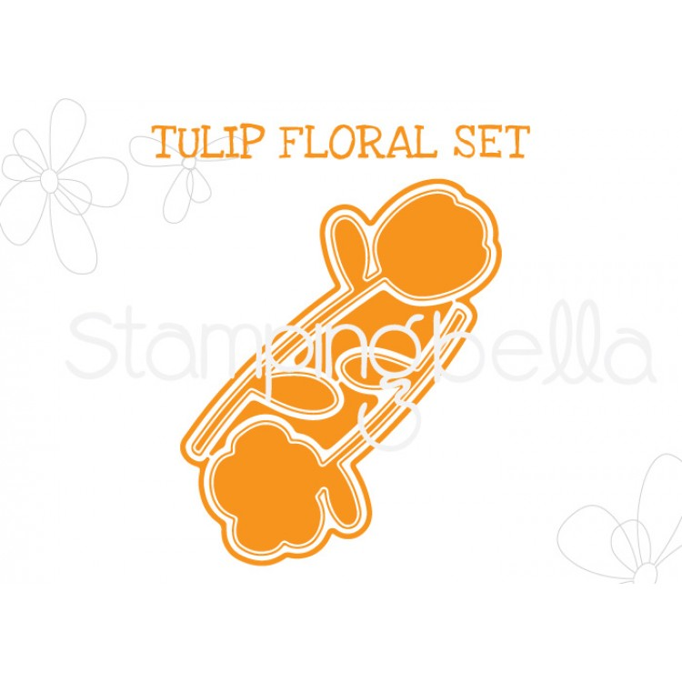 "Stamping Bella - Tulip Floral set ""CUT IT OUT"" DIE"