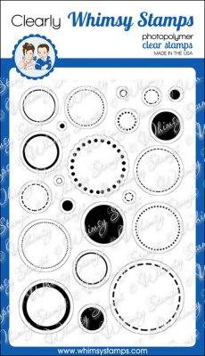 Whimsy Stamps - Circles, Circles, Circles - Clear Stamps