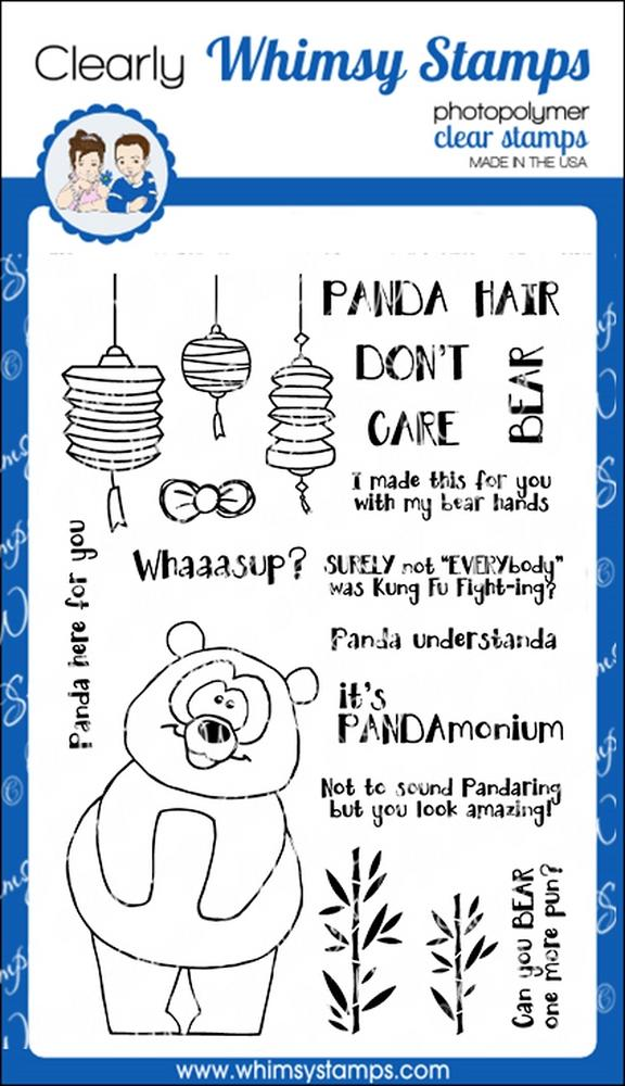 *NEW* - Whimsy Stamps - Panda Hair Don't Care