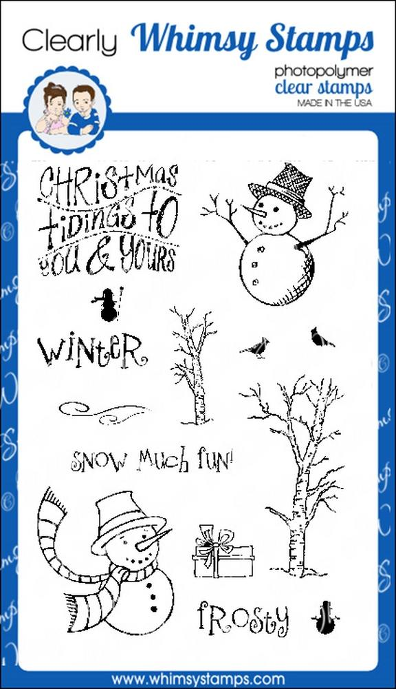 *XMAS* Whimsy Stamps - Snowman Tidings