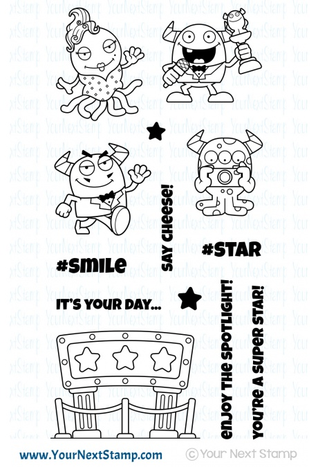 *NEW* - Your Next Stamp - Silly Monsters Say Cheese