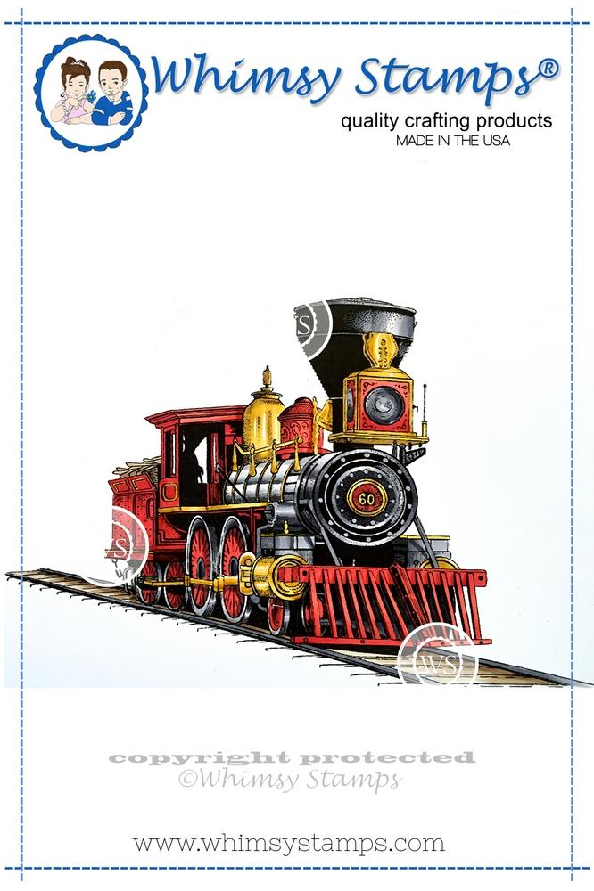 *NEW* - Whimsy Stamps - Old West Locomotive