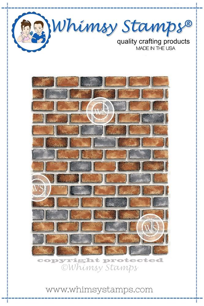 *NEW* - Whimsy Stamps - Brick Background