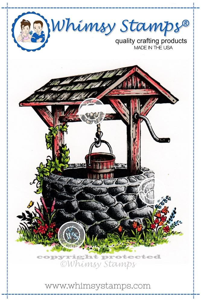 Whimsy Stamps - Wishing Well Rubber Cling Stamp