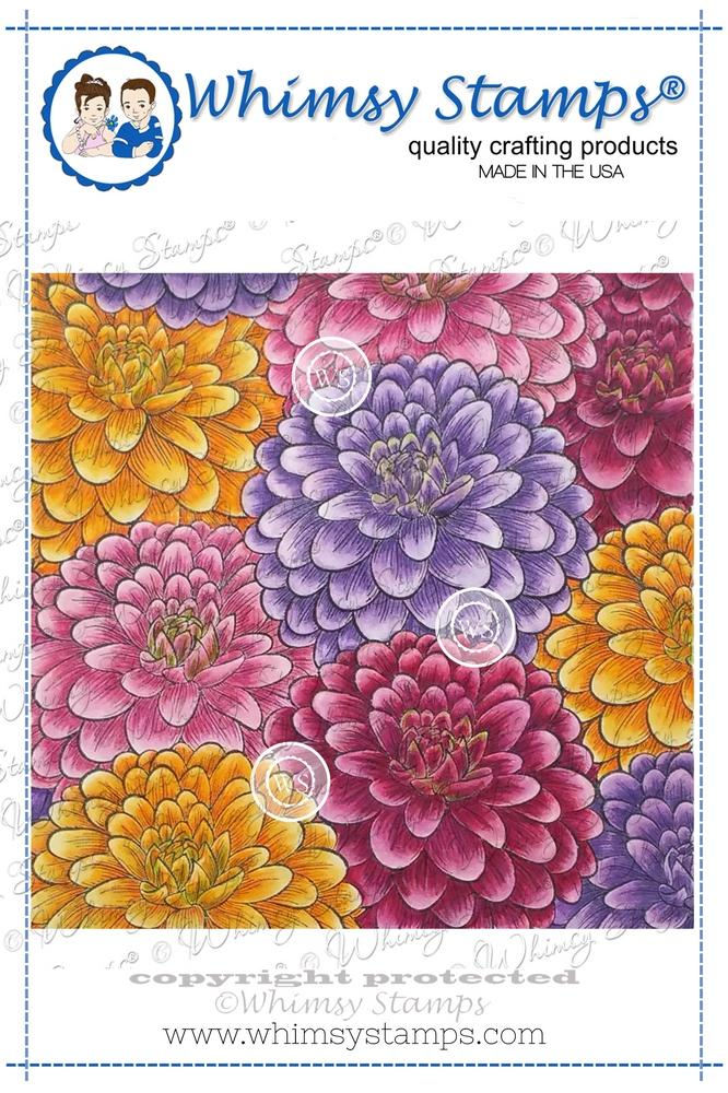 *NEW* - Whimsy Stamps - Flower Puffs Background