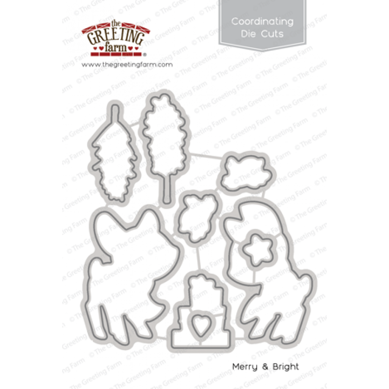 The Greeting Farm - Merry & Bright - Die Cuts