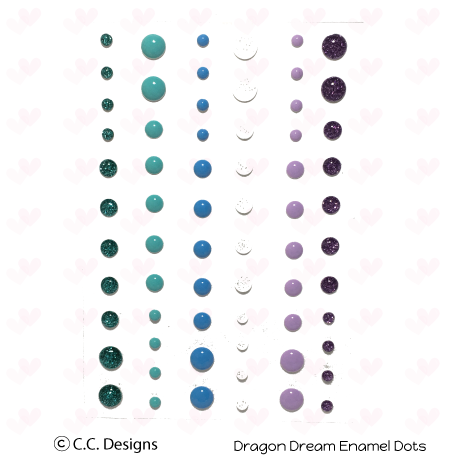 *NEW* - CC Designs - Dragons Dreams Enamel Dots