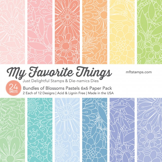 My Favorite Things - Bundles of Blossoms Pastels Paper Pack