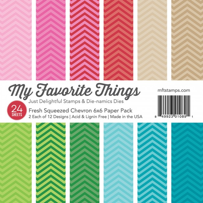 My Favorite Things - Fresh Squeezed Chevron 6 x 6 Paper Pack