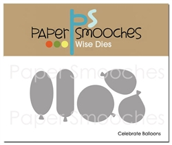 Paper Smooches - Celebrate Balloons Dies