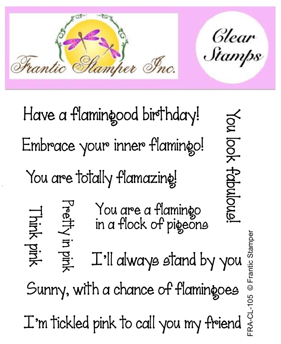 *NEW* - Frantic Stamper - Clear Stamp Set - Flamingo Sentiments