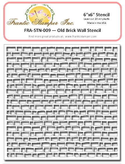 "*NEW* - Frantic Stamper - 6""x6"" Stencil - Old Brick Wall"