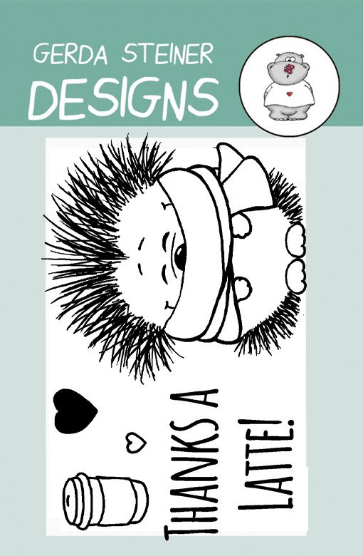Gerda Steiner - Coffee Hedgehog 2x3 Clear Stamp Set