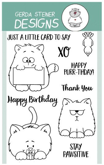 Gerda Steiner - All Cats 4x6 Clear Stamp Set