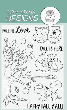 Gerda Steiner - Fall in Love 4x6 Clear Stamp Set