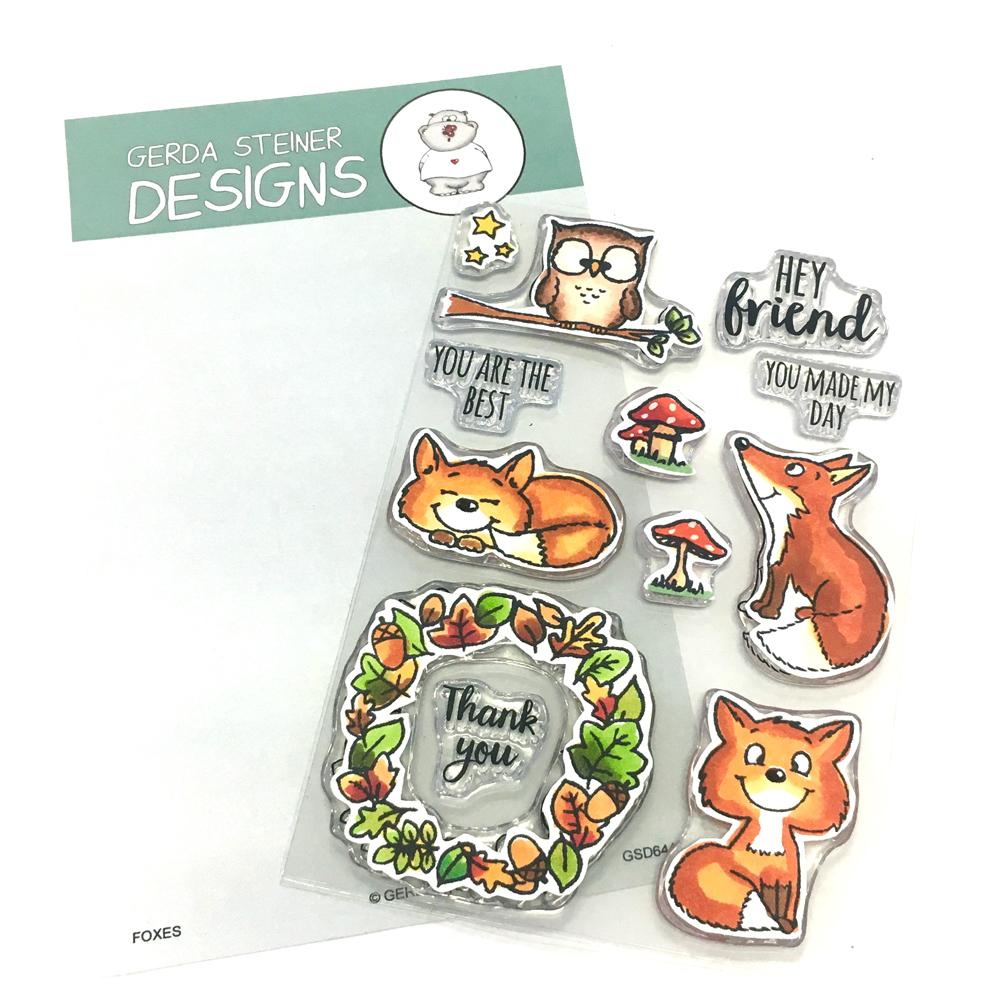 *NEW* - Gerda Steiner - Foxes 4x6 Clear Stamp Set