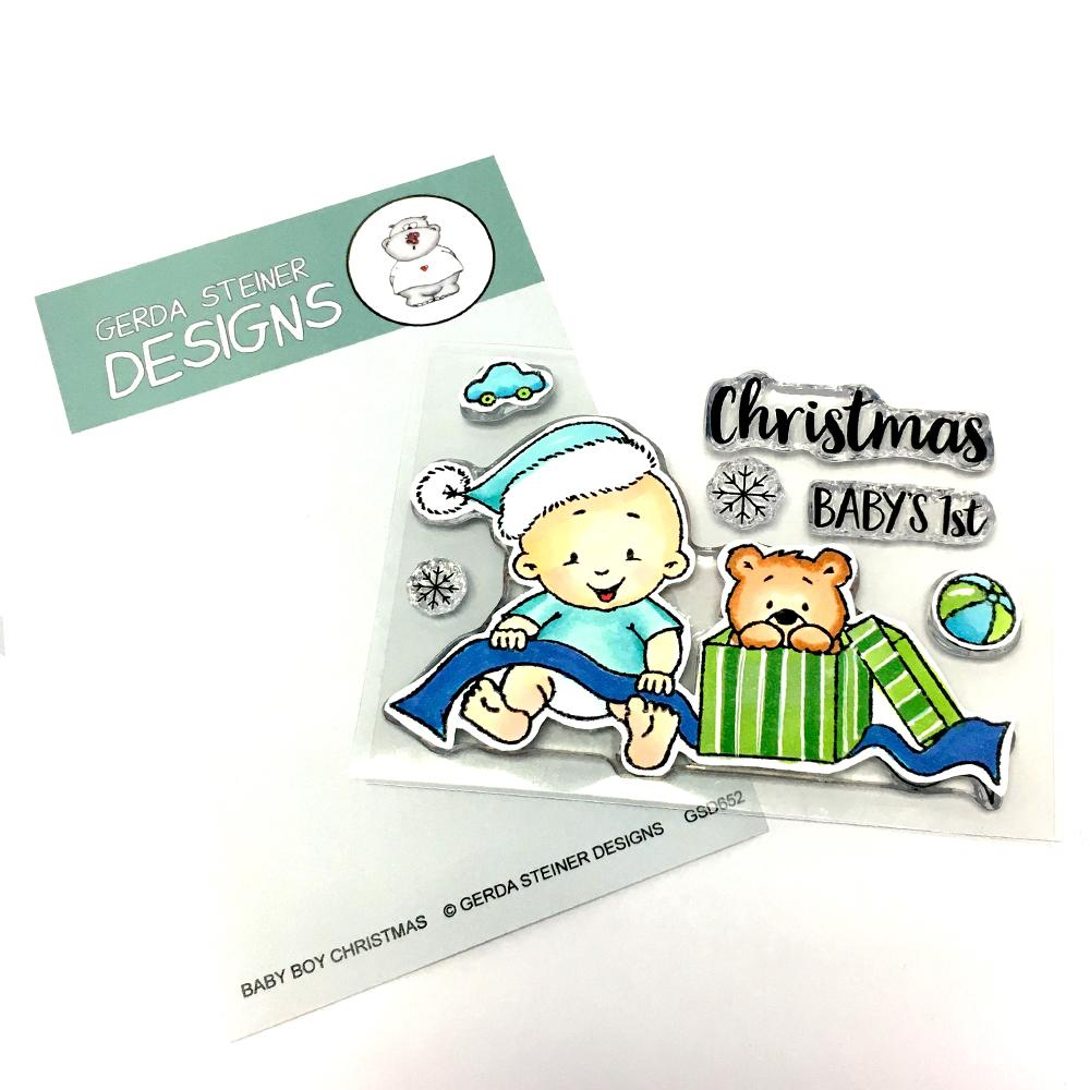 Gerda Steiner - Baby Boy Christmas 3x4 Clear Stamp Set