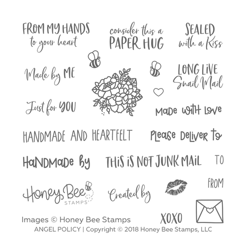 *NEW* - Honey Bee - Angel Policy | 4x4 Stamp Set