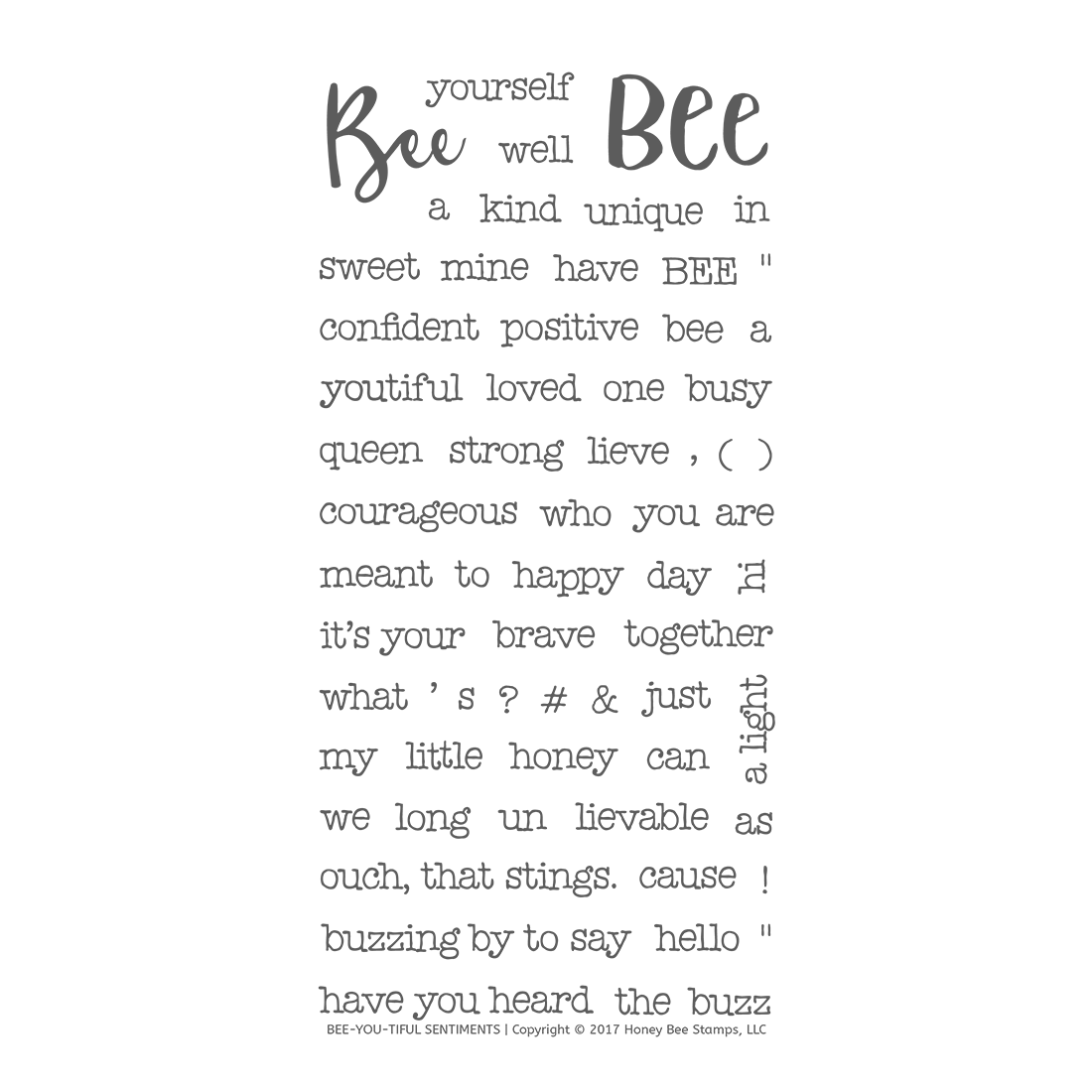 *PRE-ORDER* - Honeybee Bee Stamps - Bee-You-Tiful Sentiments | 4x8 Stamp Set