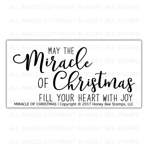 Honey Bee Stamps - Miracle of Christmas | 2x4 Stamp Set
