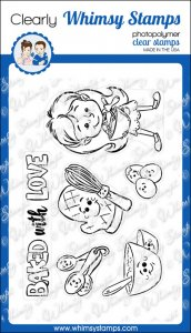 Whimsy Stamps - Baked with Love - Clear Stamps