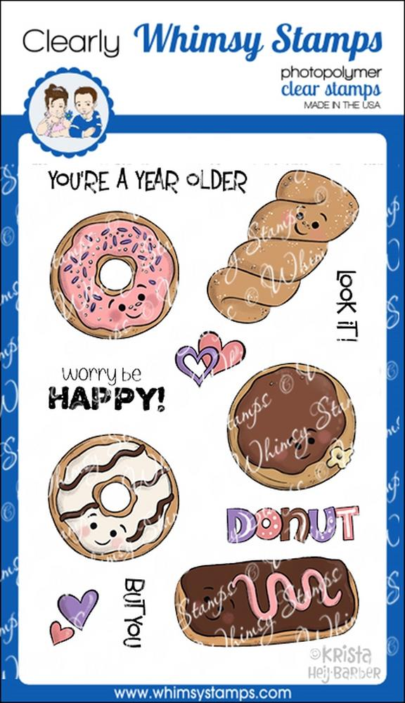 *PRE-ORDER* - Whimsy Stamps - Donut Birthdays