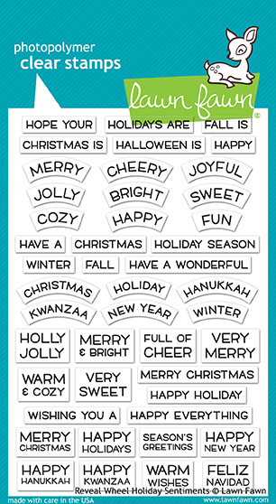 Lawn Fawn - reveal wheel holiday sentiments
