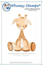 Whimsy Stamps - Baby Giraffe - Lee Holland Collection