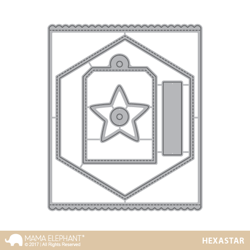 *OFFER OF THE WEEK* - Mama Elephant - Framed Tags - Hexastar (19/1/19)