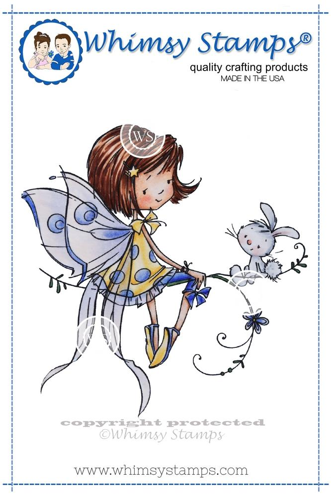 Whimsy Stamps - Fairy and Her Bunny