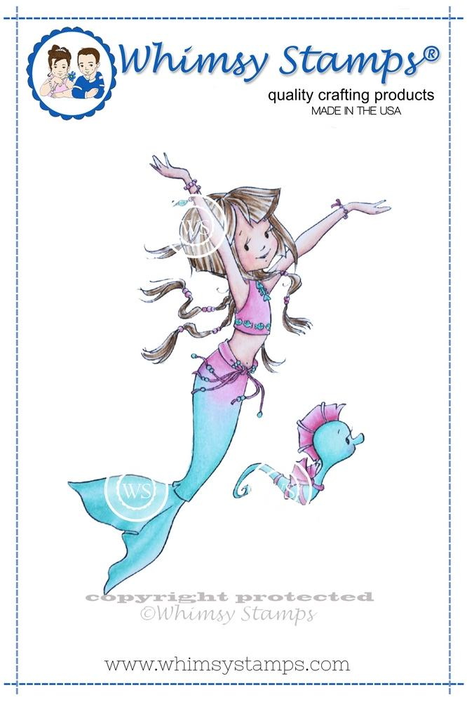Whimsy Stamps - Nerissa the Mermaid